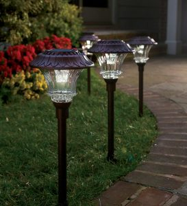 Brighten up the garden with solar lights