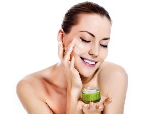 motions in applying a cream or cleanser